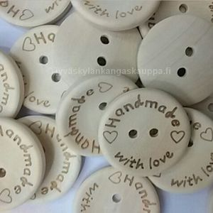 Wood button Handmade With Love