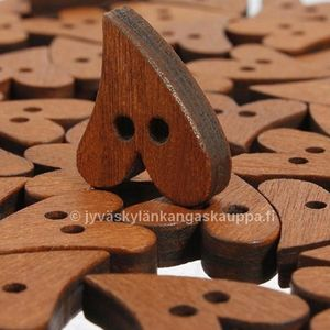 Heart wood button