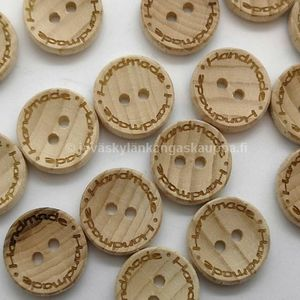 Wood button Handmade 16mm
