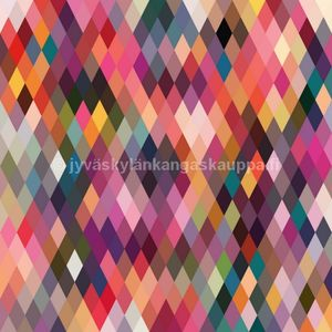 PUL fabric Rainbow diamonds