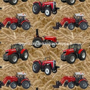 Digital jersey Red Tractors on Field