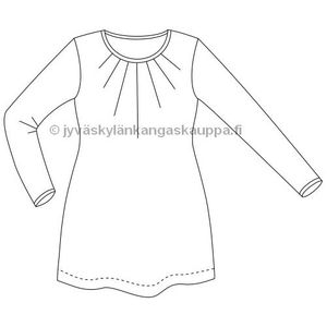 JKK PATTERN Voluptuous tunic with gathered neckline
