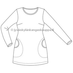 JKK PATTERN Voluptuous tunic with pockets
