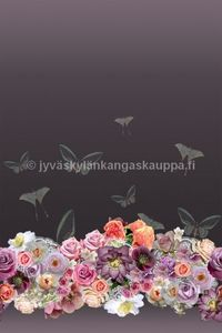 Digital jersey Butterfly and Rose raport 142cm (135cm)