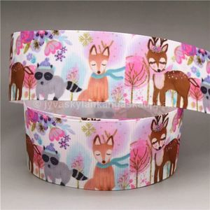 Ribbon Animals (pink forest) 38mm