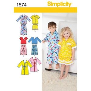 Simplicity Pattern S1574 Toddler Loungewear and Robe