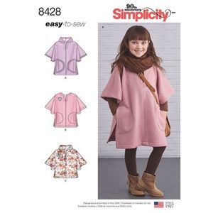 Simplicity Pattern S8428 Child Poncho in Two Lengths