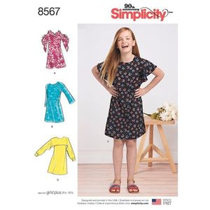 Simplicity Pattern S8567 Girls and Girls Plus Dress