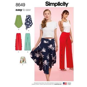 Simplicity Pattern S8649 Easy-to-Sew Knit Bottoms