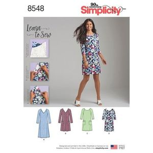 Simplicity Pattern S8548 Knit Dress