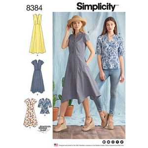Simplicity Pattern S8384 Dress with Length Variations and Top