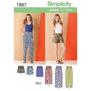 Simplicity Pattern S1887 Easy Pants and Skirts