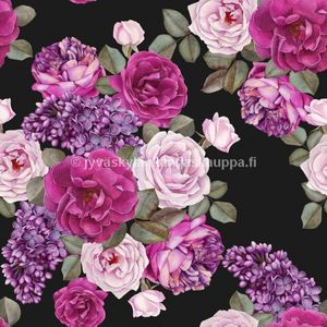 Digital jersey Summer Roses and Lilac (a. 1,4m cut)