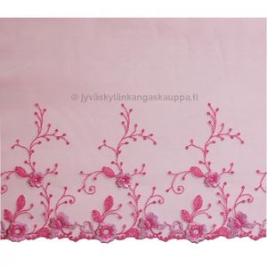 Embroidered tulle lace Pink 22cm
