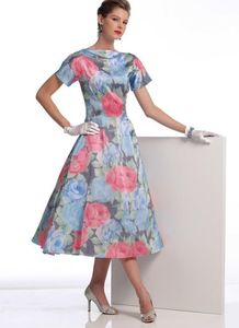 Vogue pattern V1084 RAISED-NECKLINE DRESSES