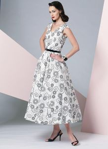 Vogue pattern V1172 V-NECK DRESS AND BELT