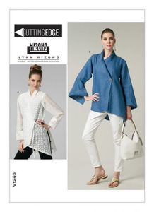 Vogue pattern V1246 ASYMMETRICAL-CLOSURE SHIRTS