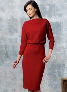 Vogue pattern V1460 RAISED-NECKLINE DRESS