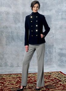 Vogue pattern V1467 DOUBLE-BREASTED PEACOAT AND STRAIGHT-LEG PANTS