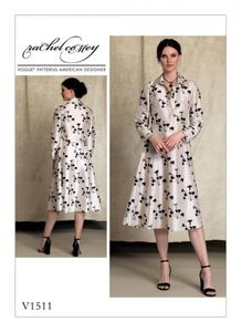 Vogue V1511 Long sleeve shirt dress