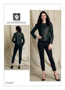 Vogue V1517 Collarless jacket and pull-on pants