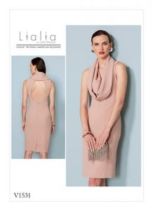 Vogue V1531 Cowl-neck, open-back dress