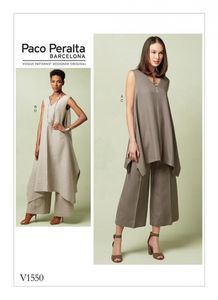 Vogue pattern V1550 Pull-over tunic and wide-leg pants