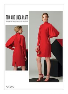 Vogue V1565 high neck dress with full sleeves