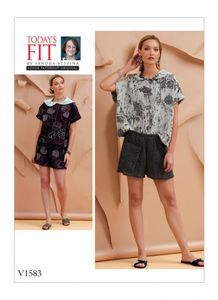 Vogue V1583 TOP AND SHORTS