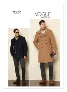 Vogue V8940 Double-breasted peacoats and pants