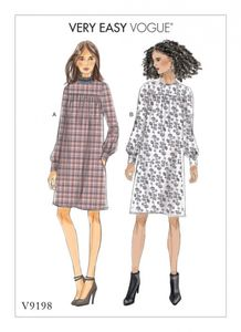 Vogue V9198 Gathered dresses with front yoke