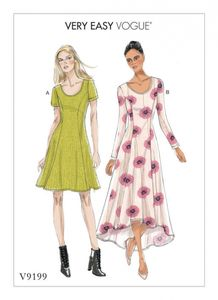 Vogue V9199 Knit fit-and-flare dresses