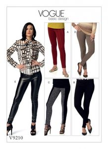 Vogue V9210 Seamed skinny pants