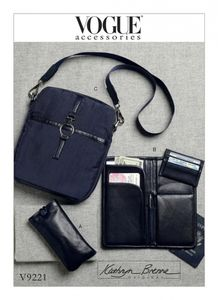 Vogue V9221 Passport wallet, card holder and shoulder bag