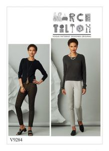 Vogue V9282 Seam-detail knit pants