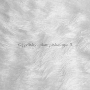 Faux Fur WHITE long hair (70cm cut)