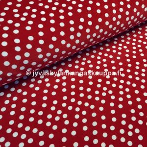 Nicky velour Pilkut Punainen (Dots Red)
