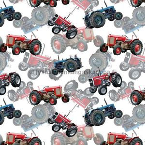 Digital jersey Vintage Tractors White