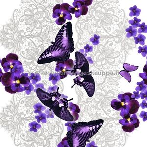 Digital jersey Violet Lace Butterfly