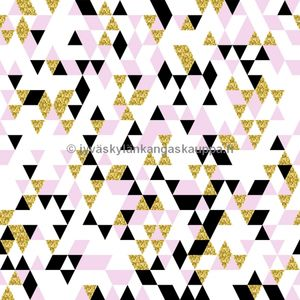 Digital jersey Gold and Pink Triangles (70cm cut) (2nd quality)