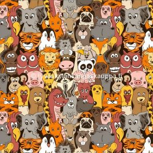 Digital jersey Happy Wild Animals