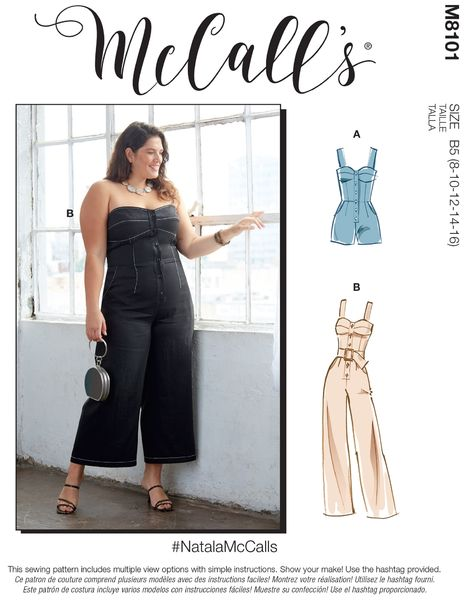 McCALL´s kaava M8101 Romper, Jumpsuit and Belt