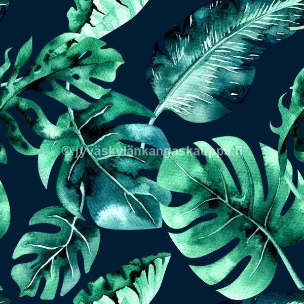 Digital jersey Tropical Leaves