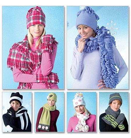 McCall's M4681 Hats, scarves and mittens