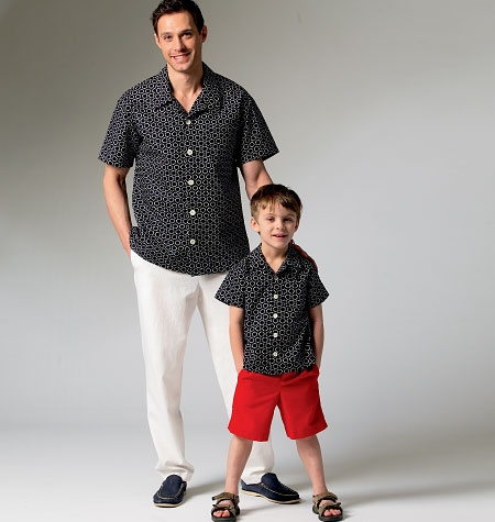 McCall's M6972 Mens'/boys' shirt, shorts and pants