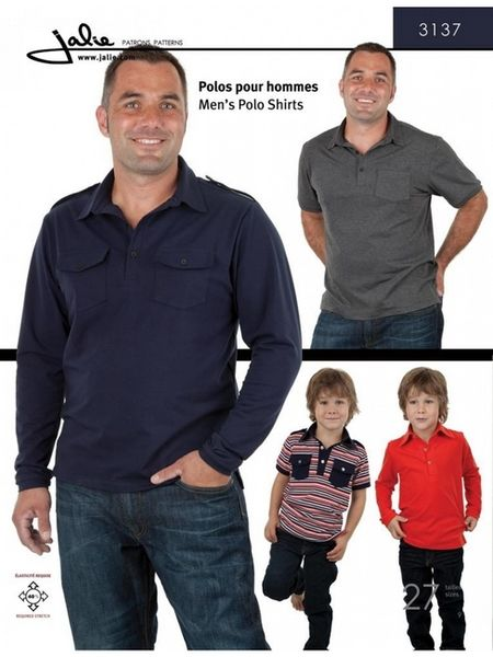 Jalie 3137 Boys' and men's polo shirts