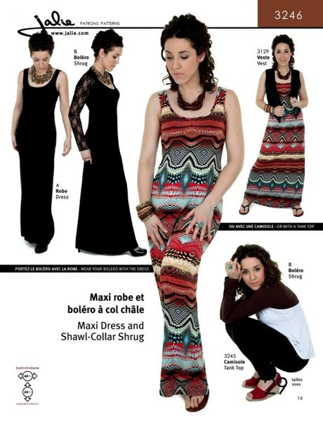 Jalie 3246 Maxi dress and shrug