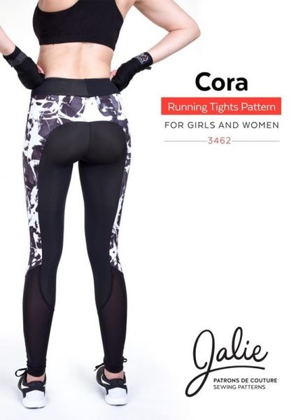 Jalie 3462 Cora running tights and shorts