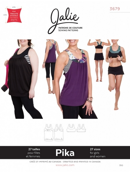 Jalie 3679 Pika sport bra and tank