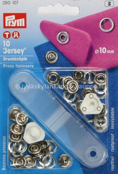 Prym metal snaps 10mm, starter pack 390107
